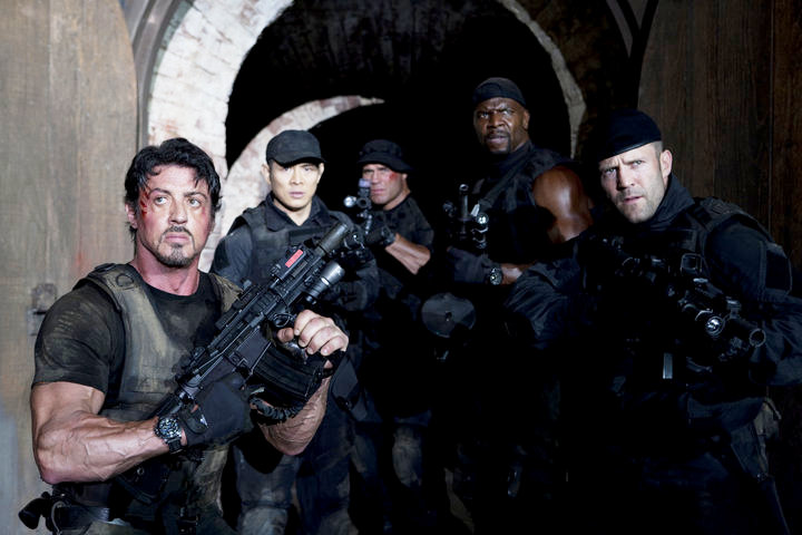 Sylvester Stallone, Jet Li, Randy Couture, Terry Crews, Jason Statham