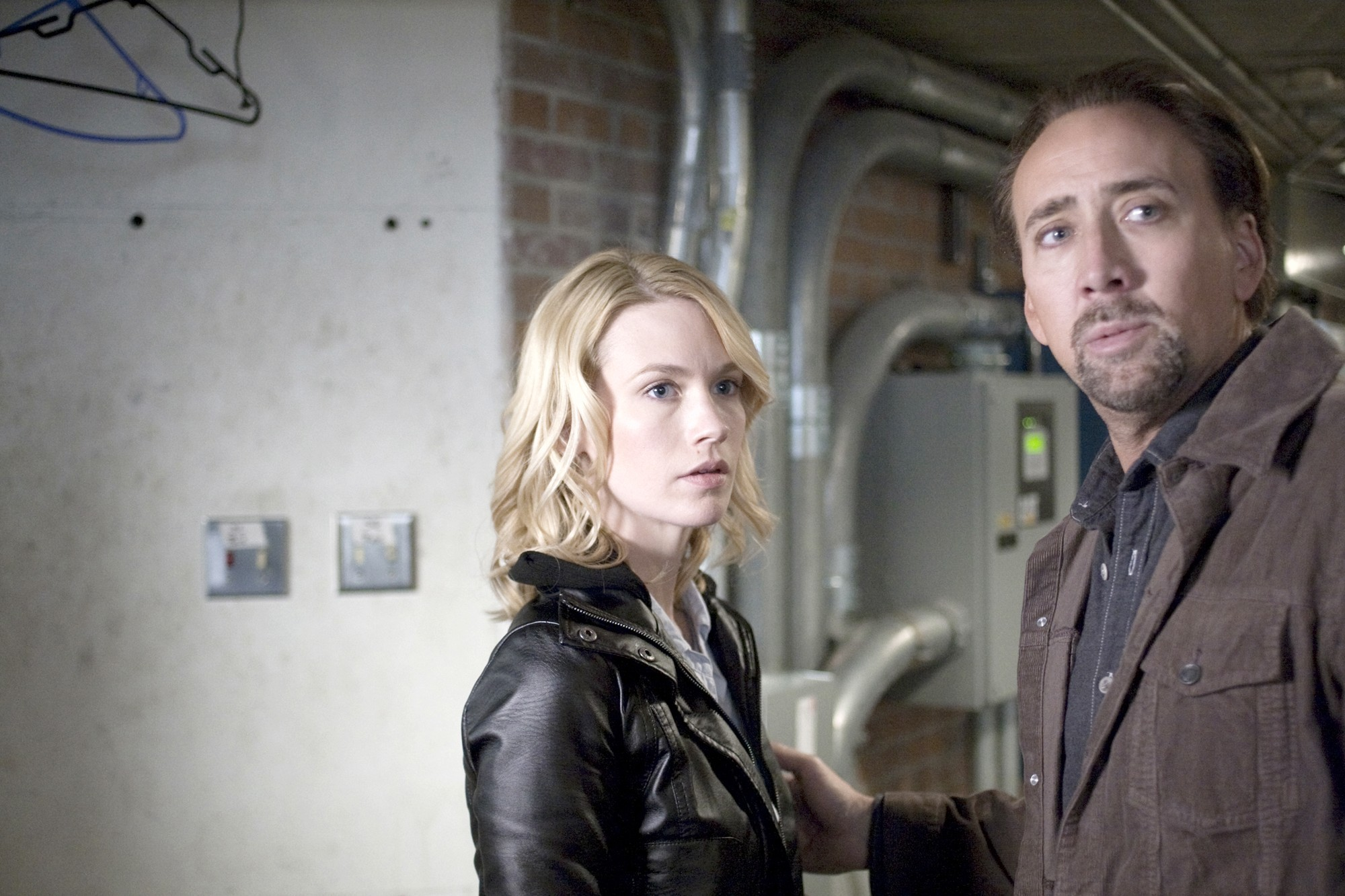 January Jones stars as Laura Gerard and Nicolas Cage stars as Nick Gerard in Anchor Bay Films' Seeking Justice (2012)