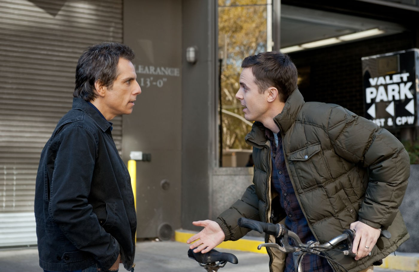 Ben Stiller stars as Josh Kovacs and Casey Affleck stars as Cole Howard in Universal Pictures' Tower Heist (2011)