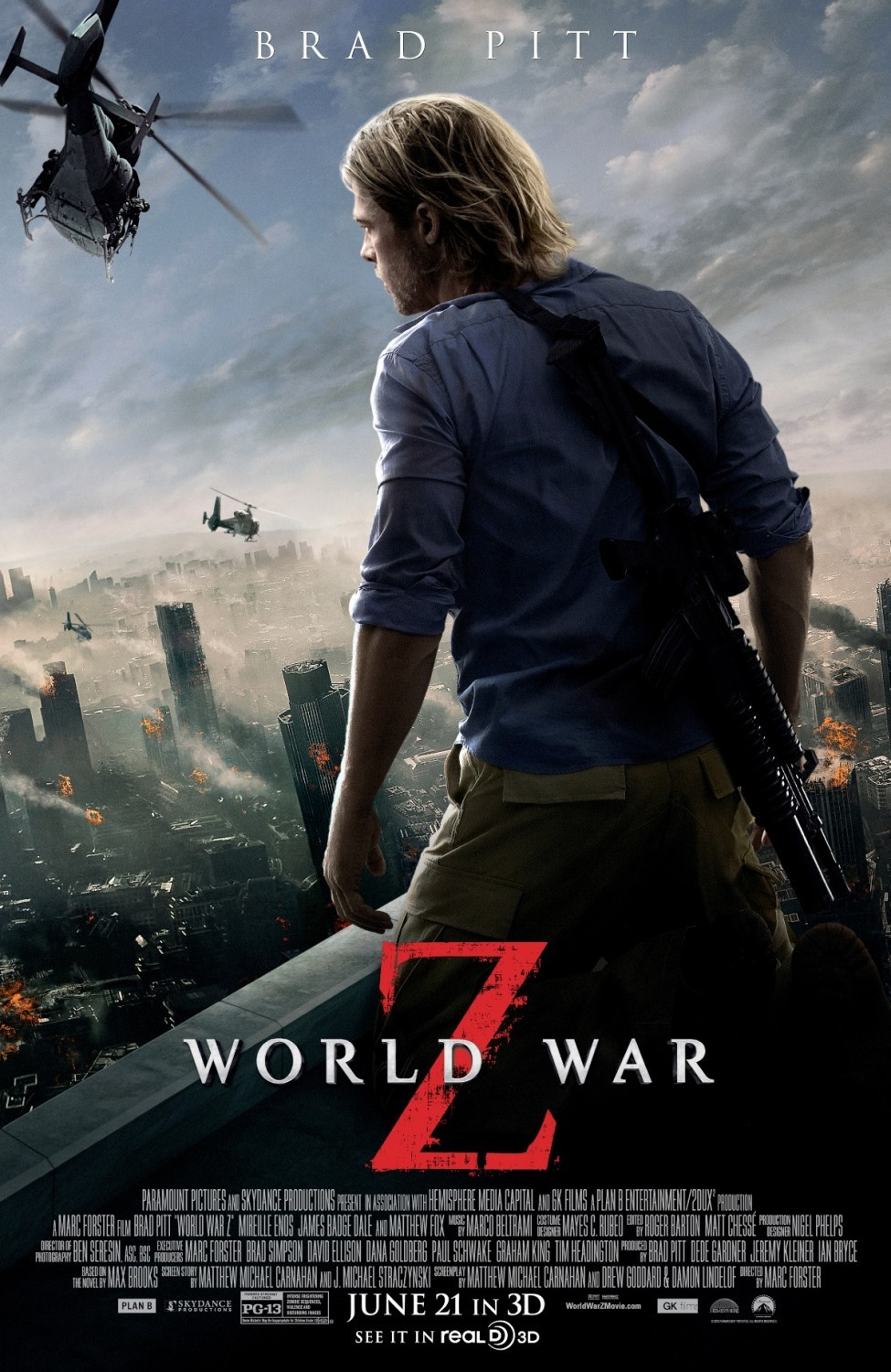 Poster of Paramount Pictures' World War Z (2013)