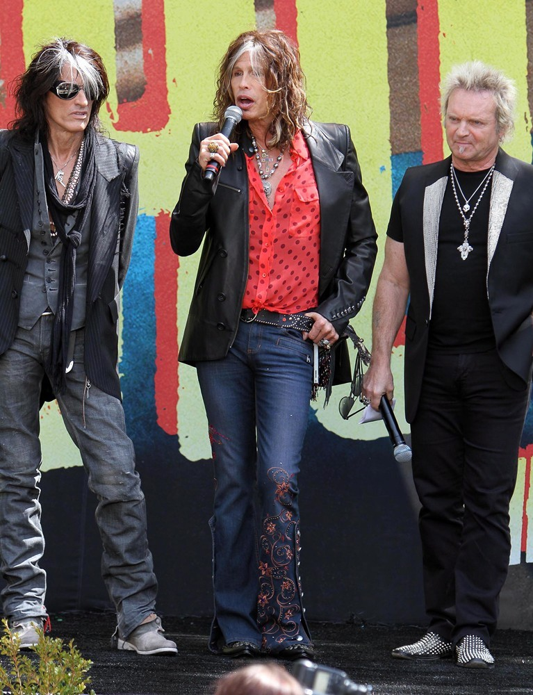 Joe Perry, Steven Tyler, Joey Kramer, Aerosmith<br>Aerosmith Announce Their New Global Warming Tour