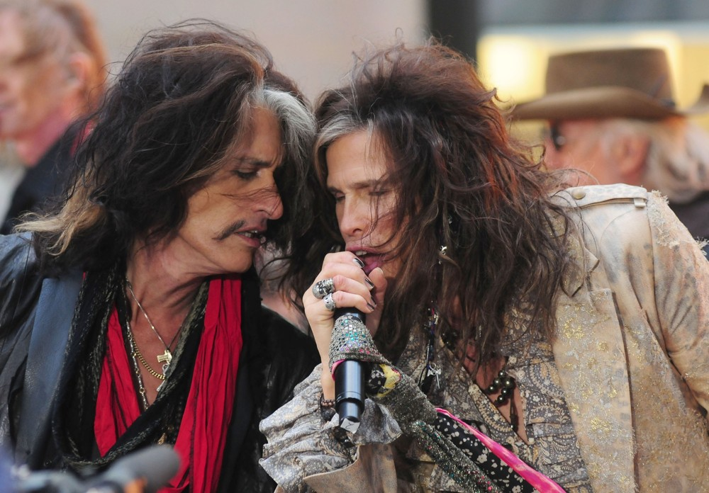 Joe Perry, Steven Tyler, Aerosmith<br>Aerosmith Performing Live During The Today Show Concert Series