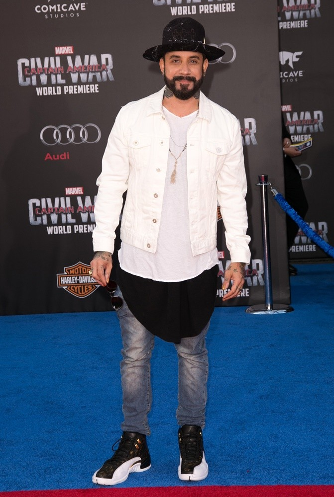 A.J. McLean, Backstreet Boys<br>The World Premiere of Captain America: Civil War