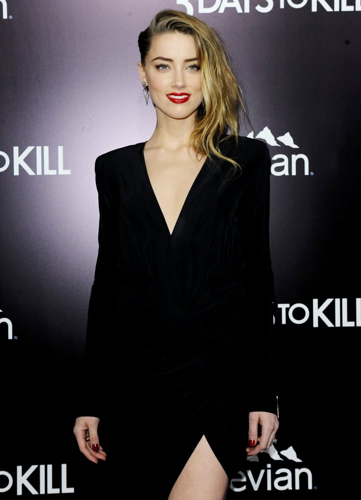 Amber Heard<br>3 Days to Kill Premiere - Red Carpet Arrivals