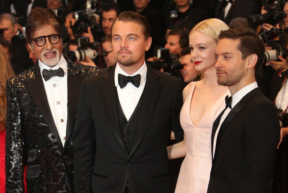 Amitabh Bachchan, Leonardo DiCaprio, Carey Mulligan, Tobey Maguire<br>Opening Ceremony of The 66th Cannes Film Festival - The Great Gatsby - Premiere