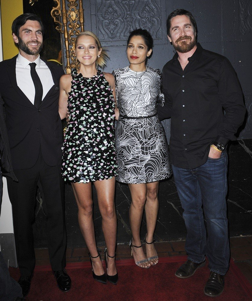 Wes Bentley, Teresa Palmer, Freida Pinto, Christian Bale<br>Los Angeles Premiere of Knight of Cups - Arrivals