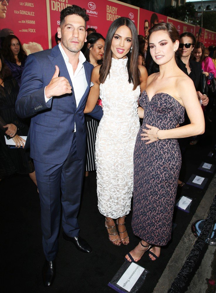 Jon Bernthal, Eiza Gonzalez, Lily James<br>Los Angeles Premiere of Sony Pictures' Baby Driver - Arrivals