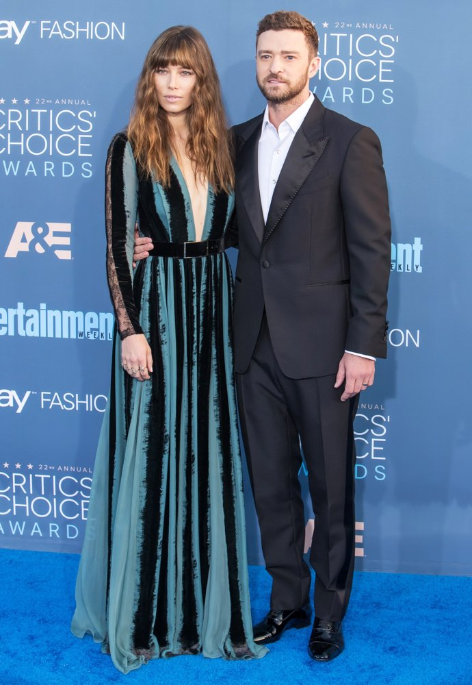 Jessica Biel, Justin Timberlake<br>The 22nd Annual Critics' Choice Awards - Arrivals