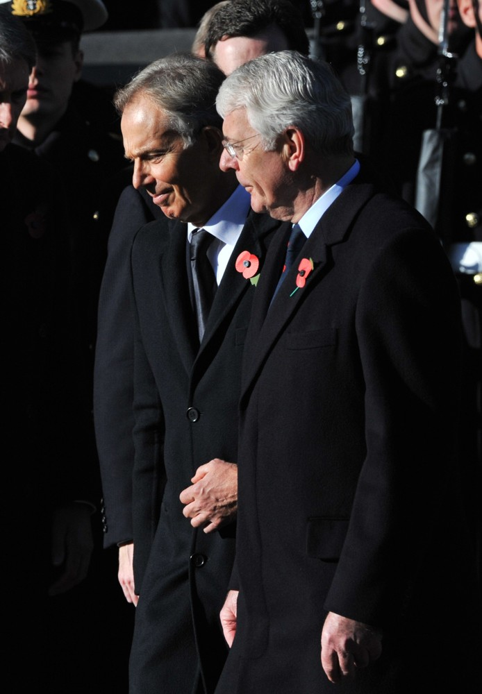 Tony Blair, John Major<br>Sunday Commemorating Sacrifices of The Armed Forces