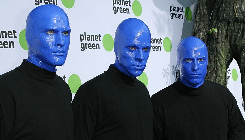 Blue man group picture 13 the premiere of discovery communication 39 s planet green concert - Blue man group box office ...