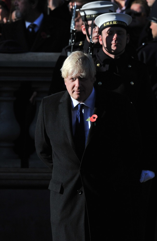 Boris Johnson<br>Sunday Commemorating Sacrifices of The Armed Forces
