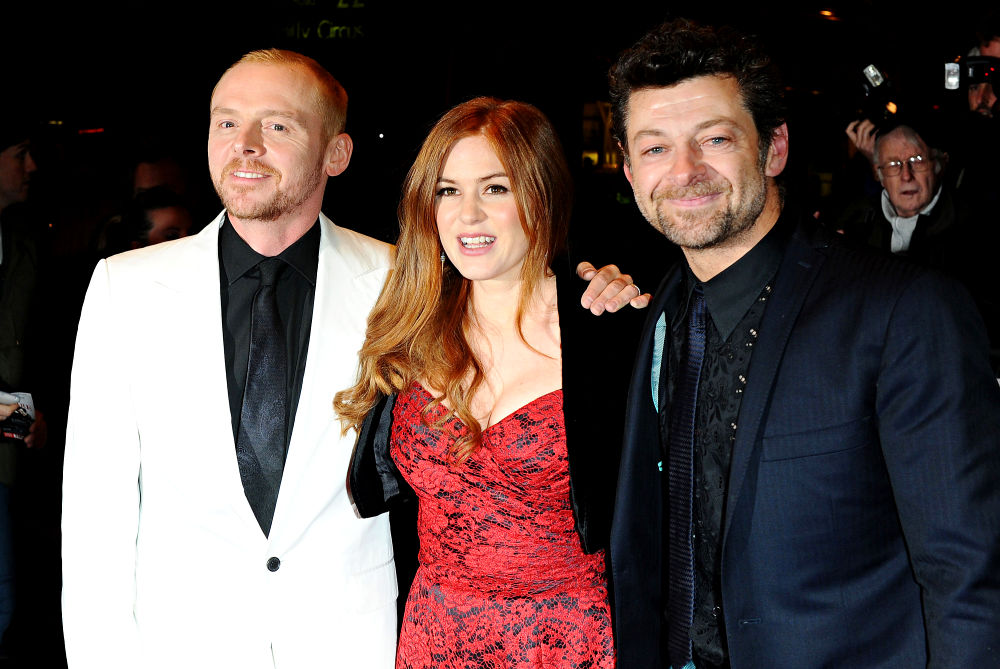 Simon Pegg, Isla Fisher, Andy Serkis