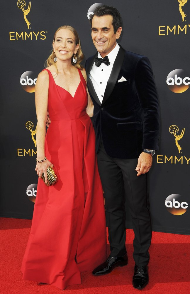 Holly Burrell, Ty Burrell<br>68th Emmy Awards - Arrivals