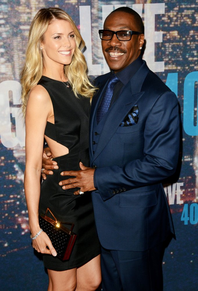 Paige Butcher, Eddie Murphy<br>Saturday Night Live 40th Anniversary Special - Red Carpet Arrivals