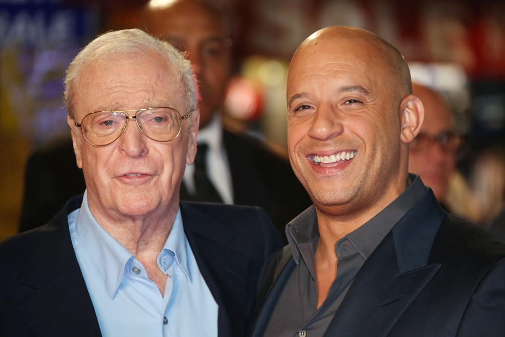 Michael Caine, Vin Diesel<br>Premiere of The Last Witch Hunters