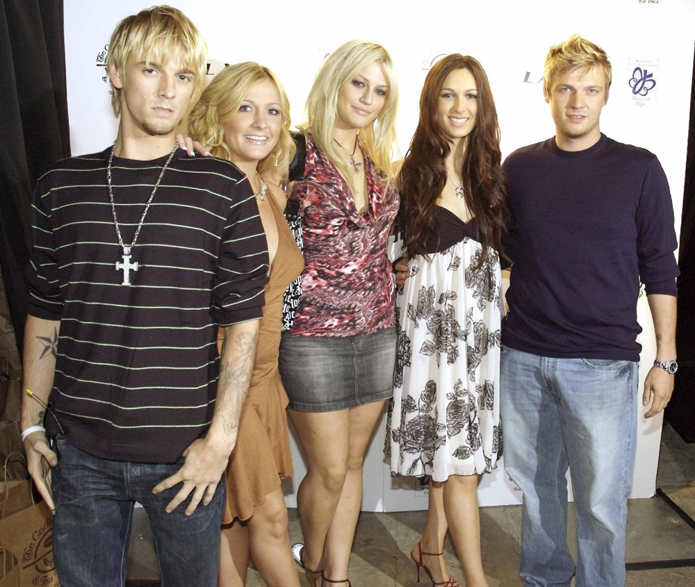 Aaron Carter, BJ Carter, Leslie Carter, Angel Carter, Nick Carter