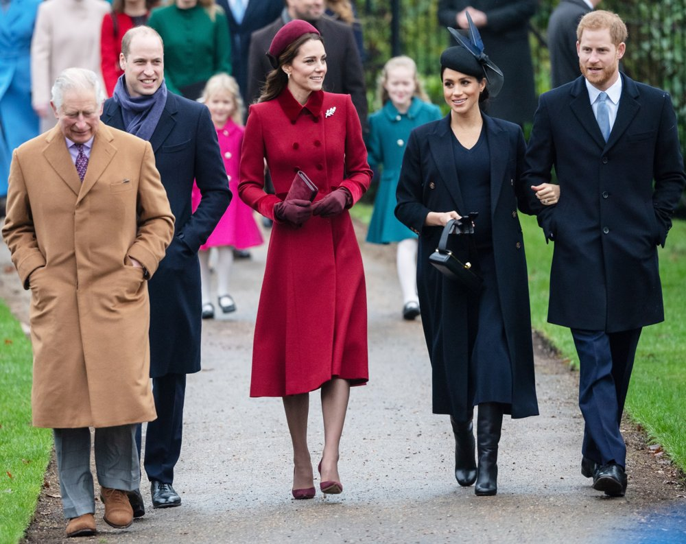 Prince Charles, Prince William, Kate Middleton, Meghan Markle, Prince Harry<br>The Christmas Day Service 2018