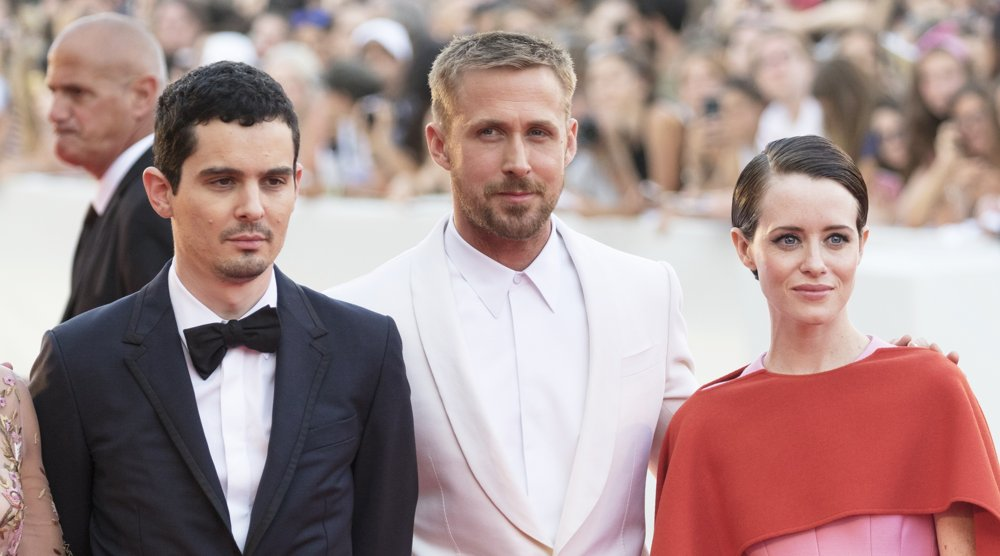 Damien Chazelle, Ryan Gosling, Claire Foy<br>75th International Venice Film Festival - First Man - Premiere
