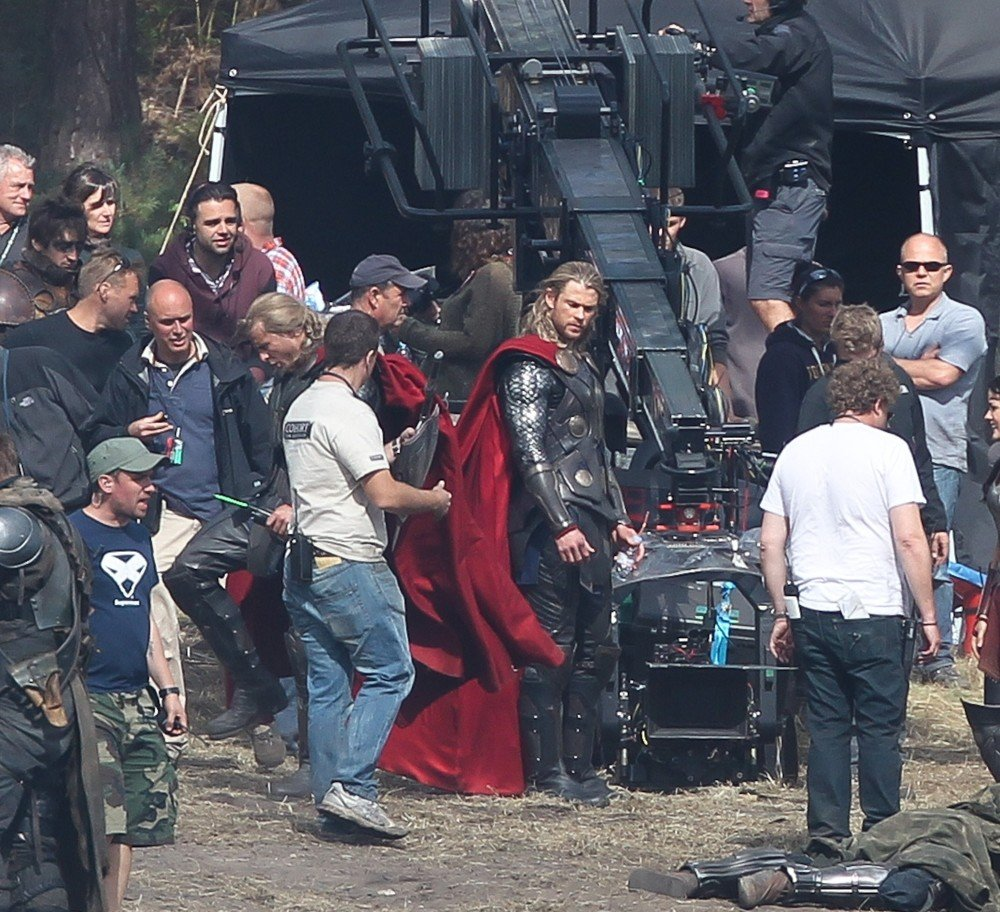 Filming Scenes for The Movie Thor: The Dark World
