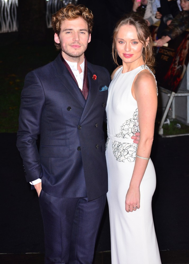 Sam Claflin, Laura Haddock<br>The World Premiere of The Hunger Games: Catching Fire - Arrivals