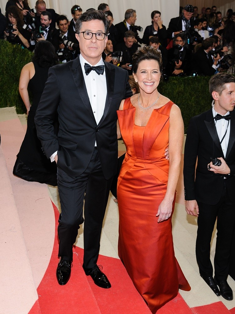 Stephen Colbert, Evelyn McGee<br>Manus x Machina: Fashion in An Age of Technology Costume Institute Gala