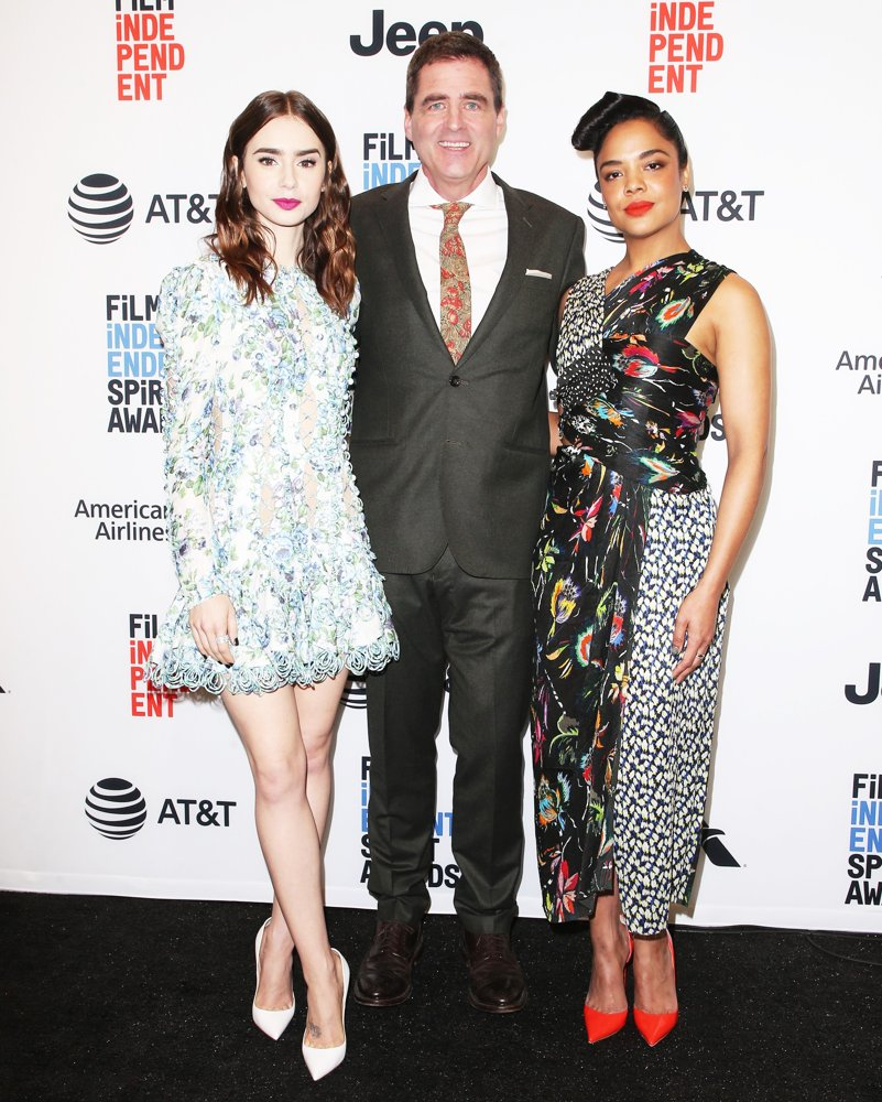 Lily Collins, Josh Welsh, Tessa Thompson<br>33rd Film Independent Spirit Awards Nominations Press Conference