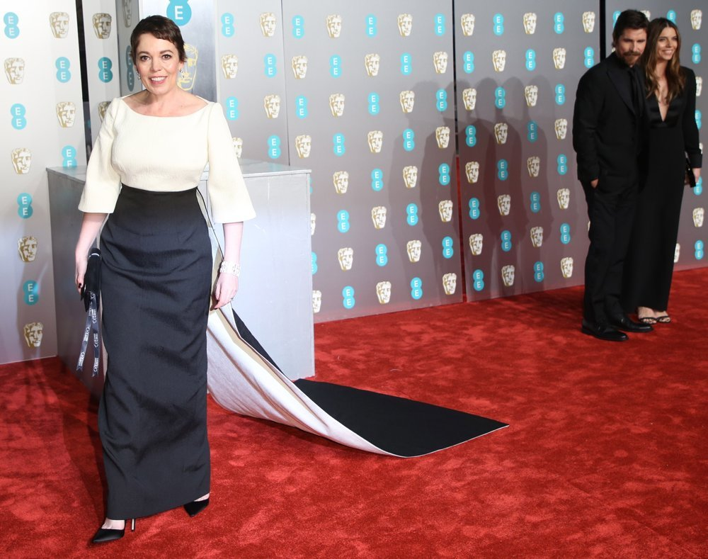 Olivia Colman, Christian Bale, Sibi Blazic<br>The EE British Academy Film Awards 2019 - Arrivals