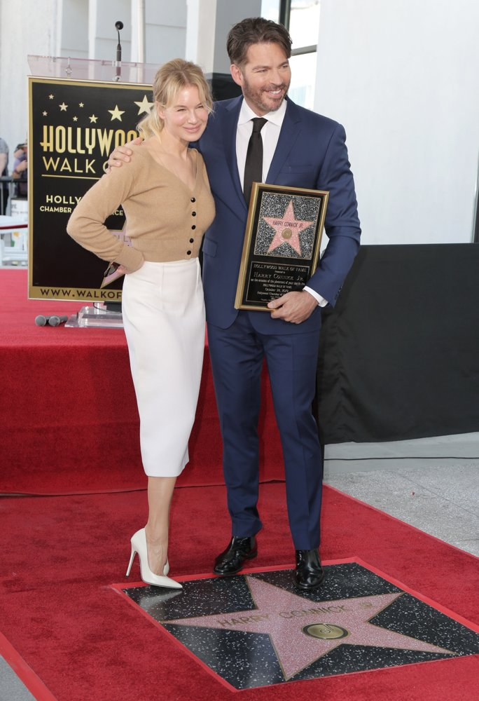 Renee Zellweger, Harry Connick Jr.<br>Harry Connick Jr. Star Ceremony on The Hollywood Walk of Fame