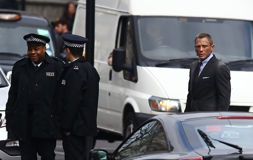 Filming A Scene for The New James Bond Film Skyfall