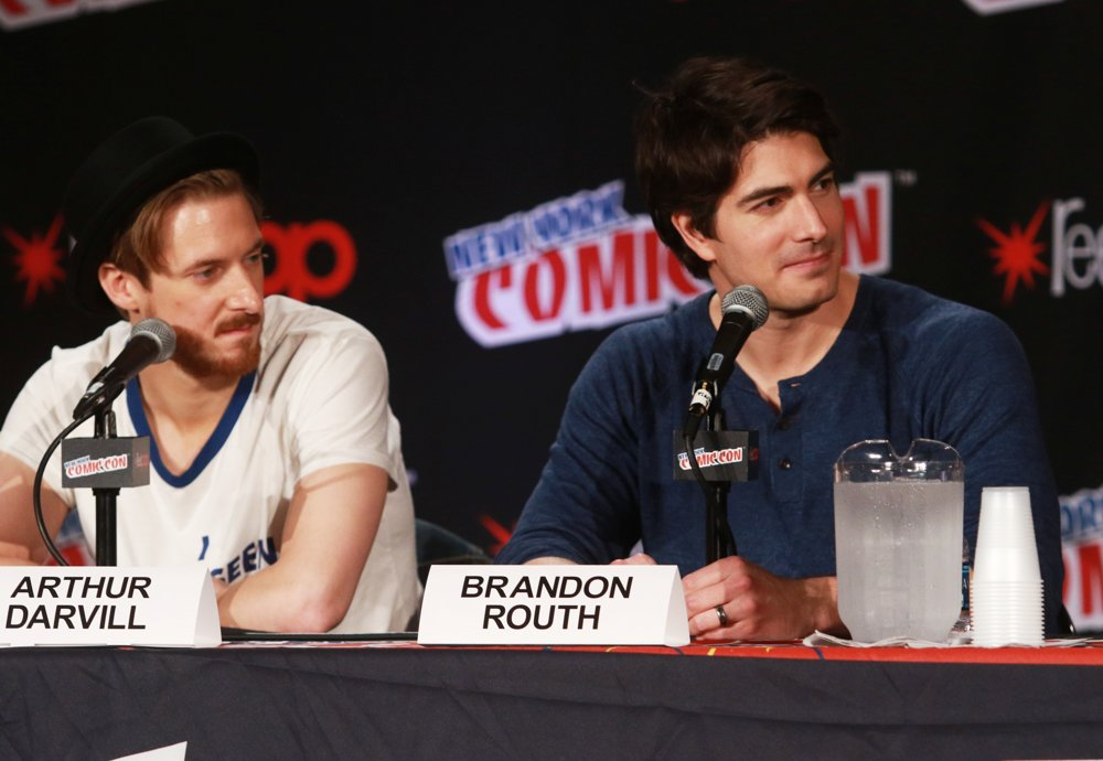 Arthur Darvill, Brandon Routh<br>New York Comic Con - Day 4 - Press Conference