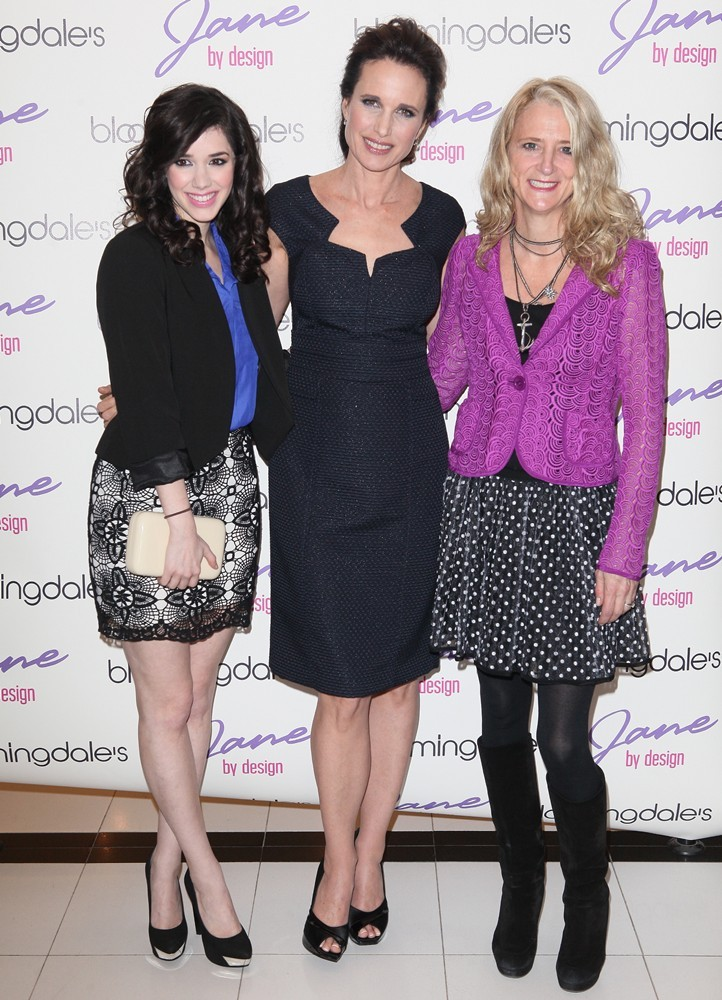 Erica Dasher, Andie MacDowell, Nanette Lepore<br>New York Fashion Week - Bloomingdale's and ABC Family Kick-Off Event