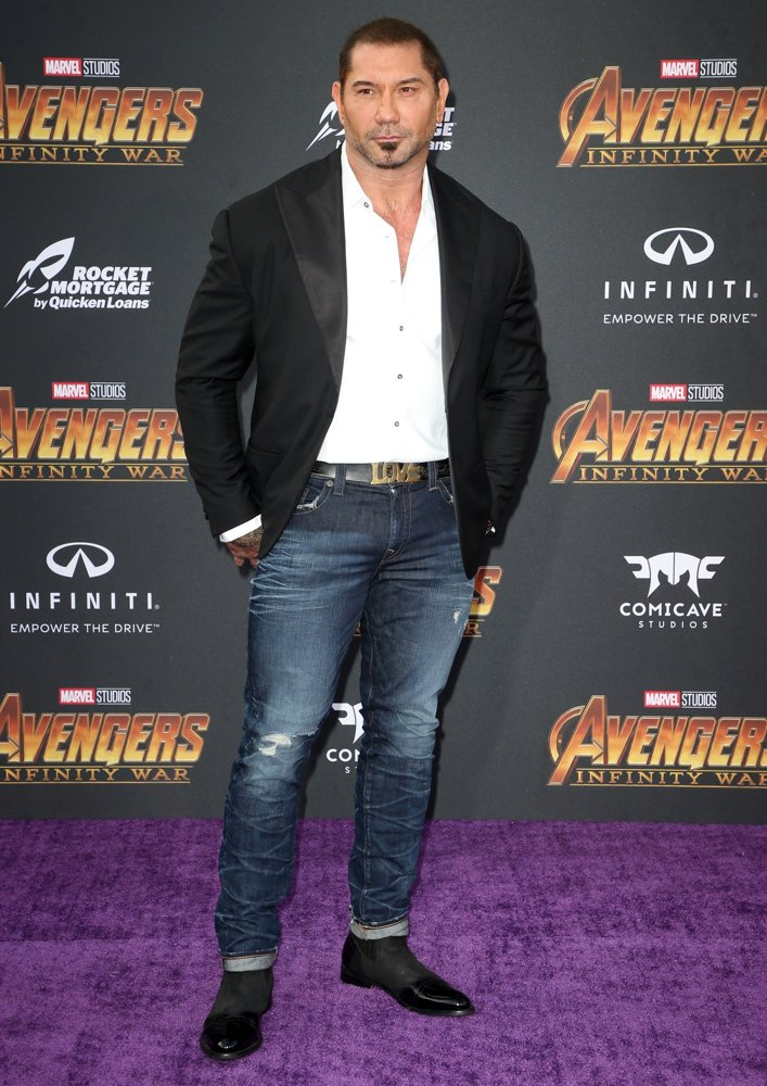 Dave Bautista<br>Avengers: Infinity War Premiere