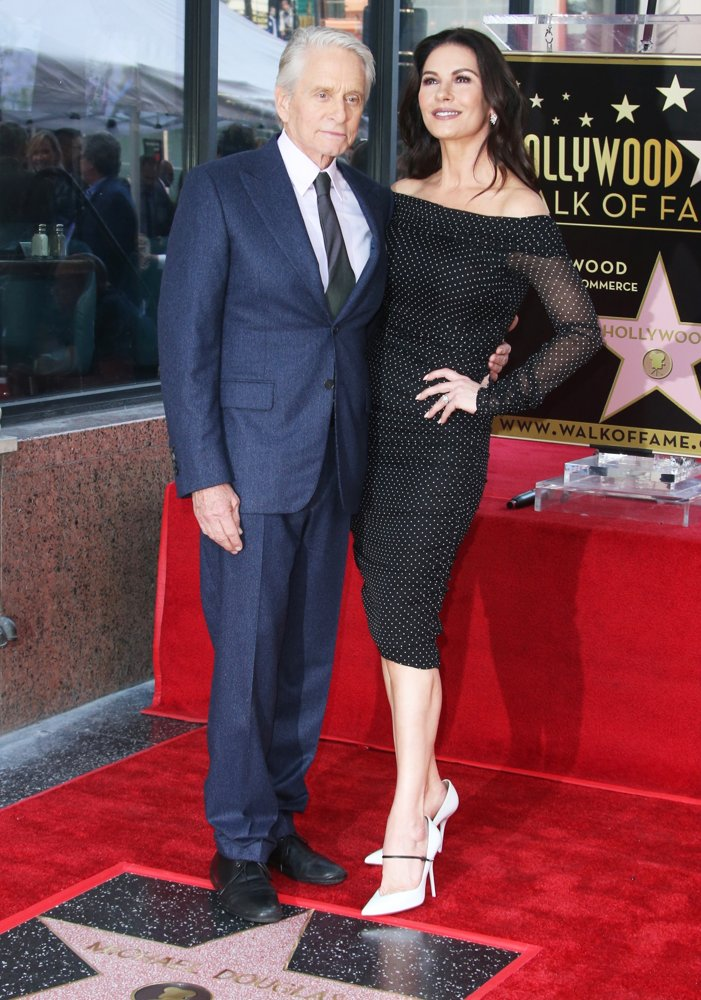 Michael Douglas, Catherine Zeta-Jones<br>Michael Douglas Honoured with A Star on The Hollywood Walk of Fame