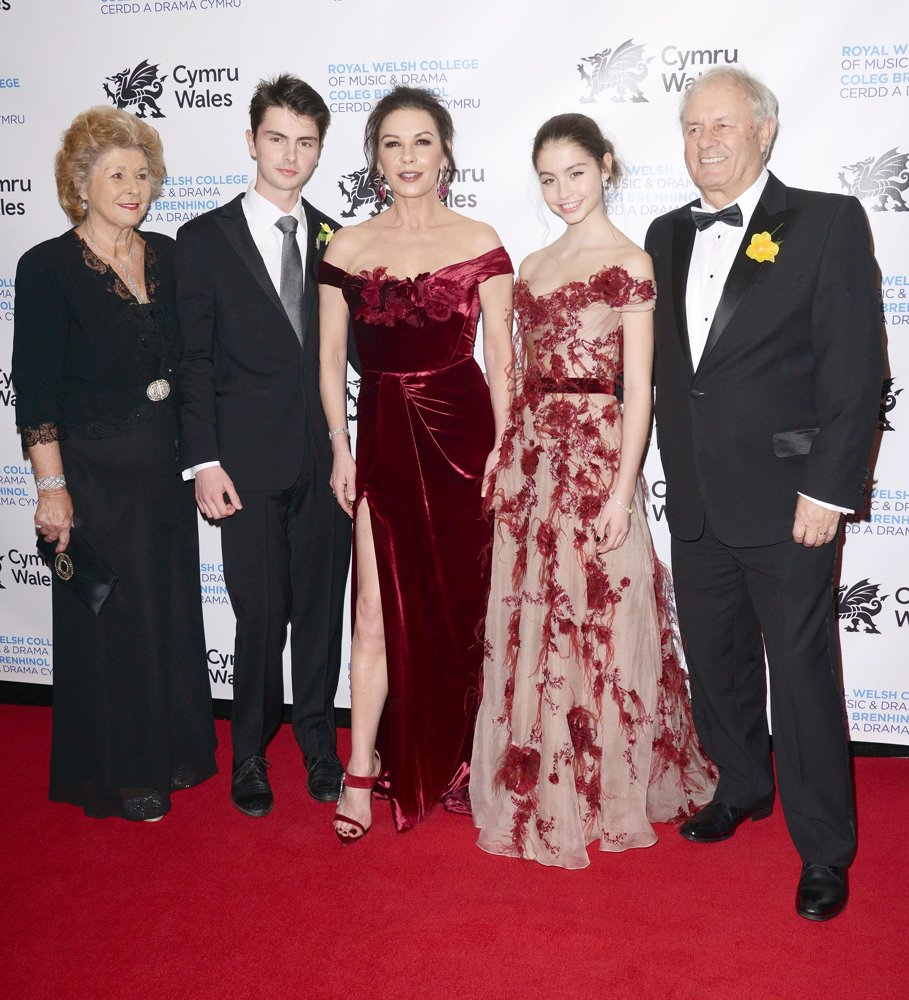 Dylan Michael Douglas, Catherine Zeta-Jones, Carys Zeta Douglas<br>The Royal Welsh College of Music and Drama 2019 Gala - Red Carpet Arrivals