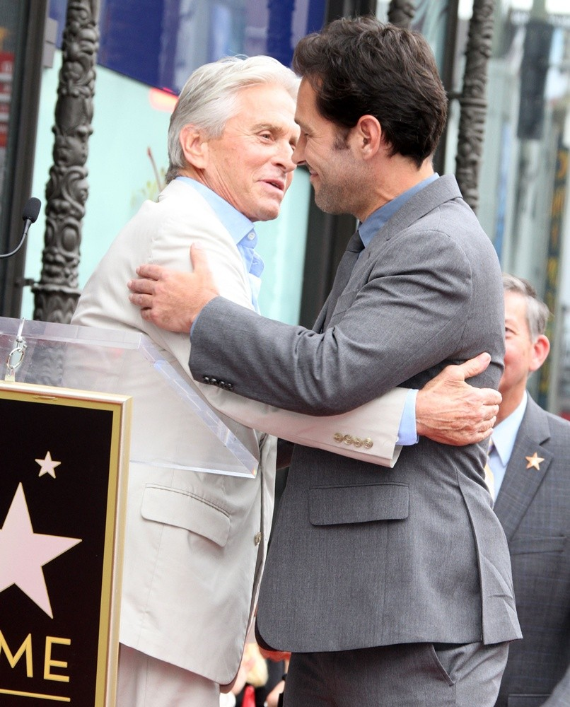 Michael Douglas, Paul Rudd<br>Paul Rudd Honored with A Star on The Hollywood Walk of Fame