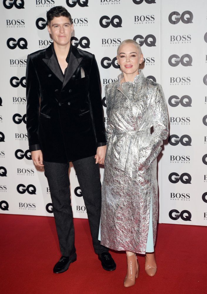 Rain Dove, Rose McGowan<br>GQ Men of The Year Awards 2018 - Arrivals