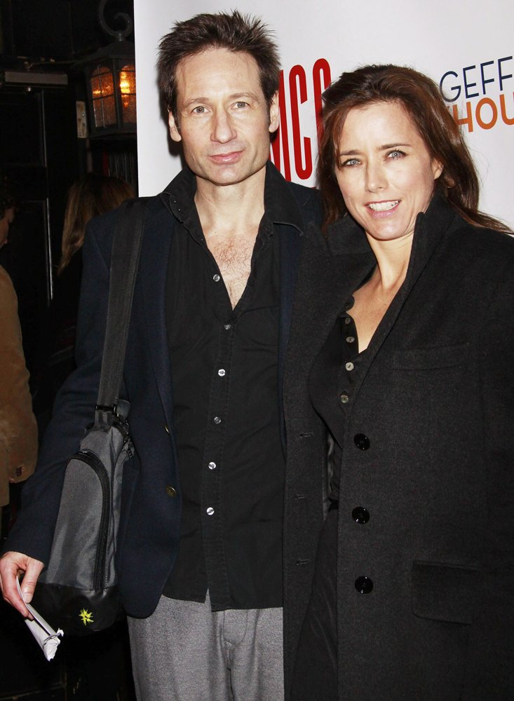 David Duchovny, Tea Leoni<br>Opening Night After Party for The Off-Broadway Production of The Break of Noon - Arrivals