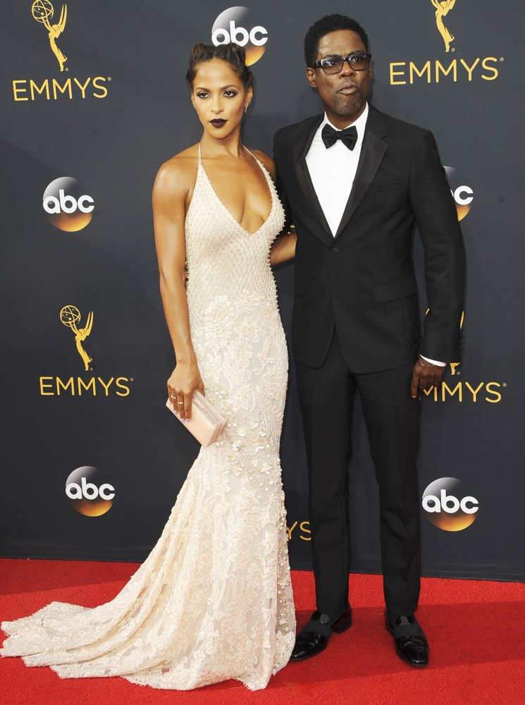 Megalyn Echikunwoke, Chris Rock<br>68th Emmy Awards - Arrivals