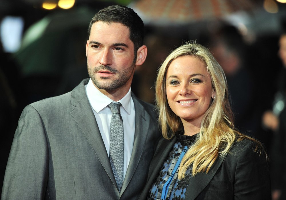 Tom Ellis, Tamzin Outhwaite<br>56th BFI London Film Festival: Great Expectations - Closing Film - Arrivals
