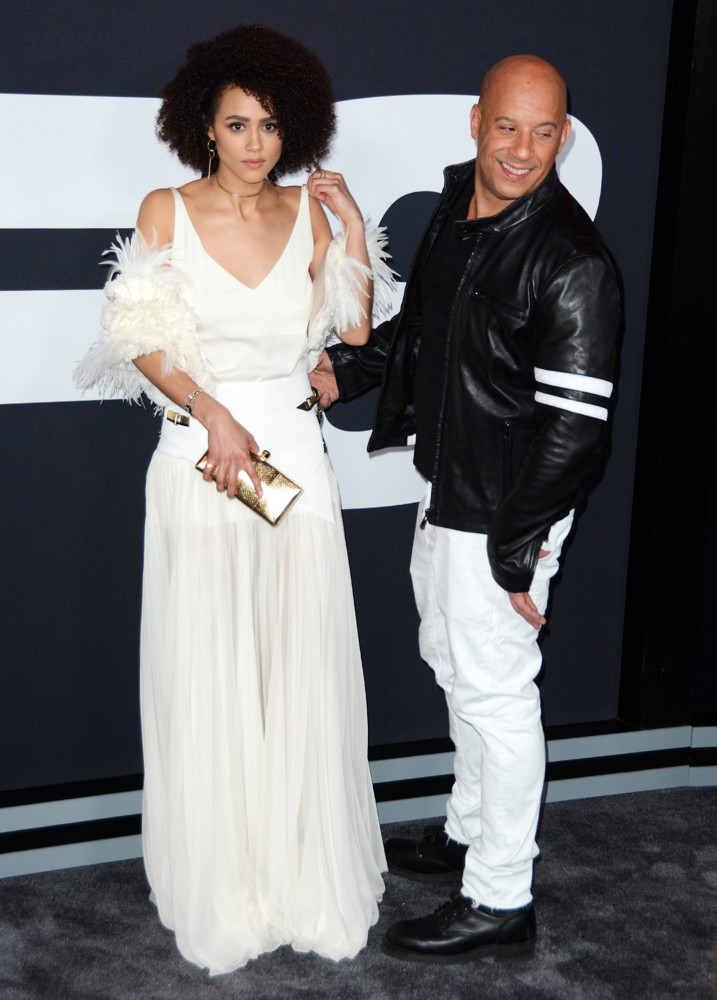 Nathalie Emmanuel, Vin Diesel<br>New York Premiere of The Fate of the Furious - Arrivals
