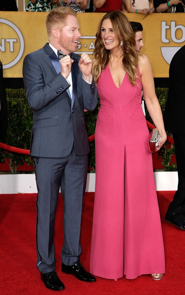 Jesse Tyler Ferguson, Julia Roberts<br>The 20th Annual Screen Actors Guild Awards - Arrivals
