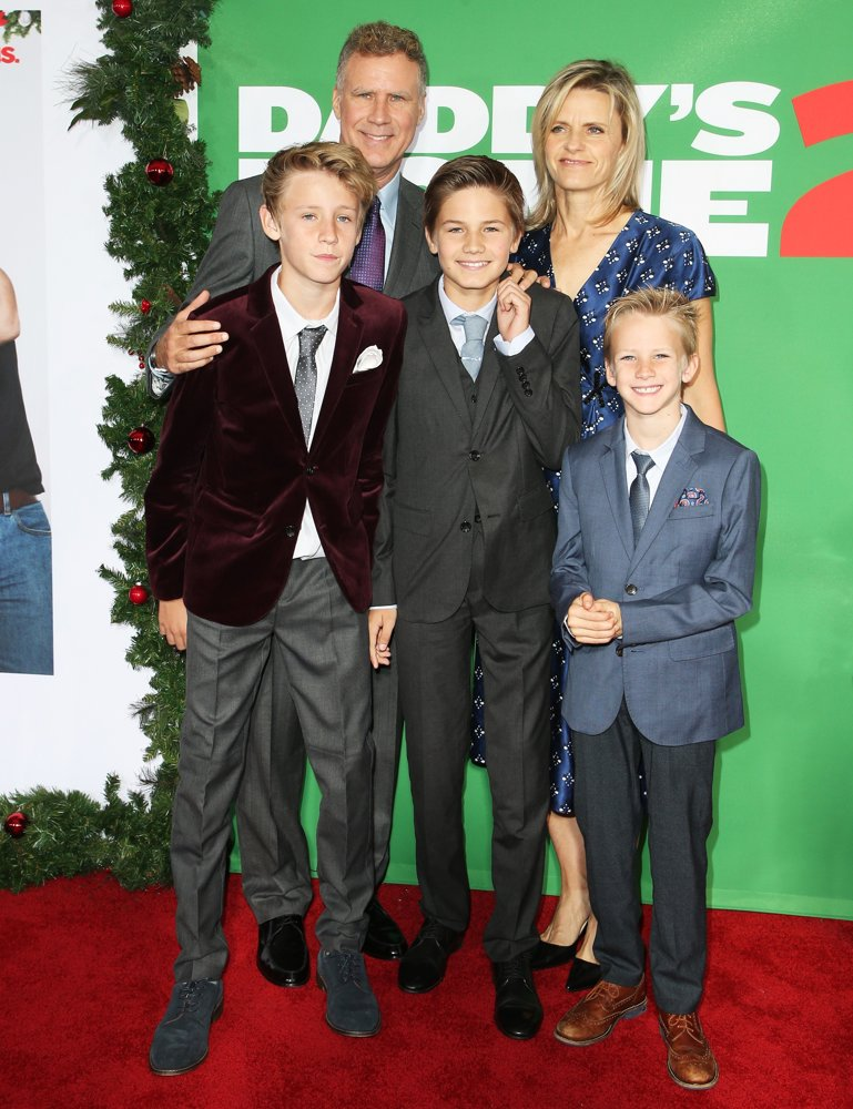 Magnus Ferrell, Will Ferrell, Mattias Ferrell, Viveca Paulin, Axel Ferrell<br>Premiere of Paramount Pictures' Daddy's Home 2 - Arrivals