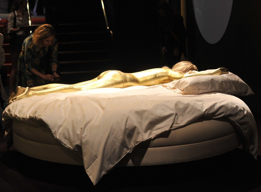 Jill Masterson's Golden Body from Goldfinger - 1964 Designing 007 - Fifty Years of Bond Style