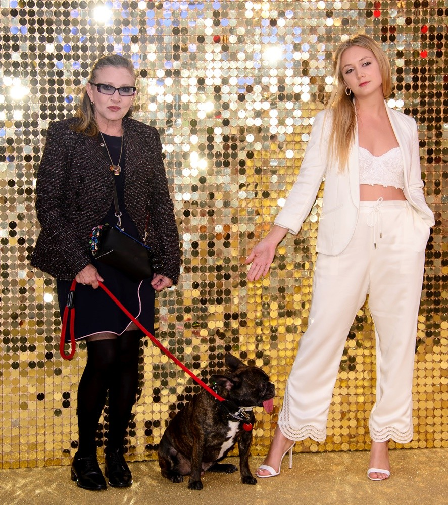 Carrie Fisher, Billie Lourd<br>Absolutely Fabulous World Premiere