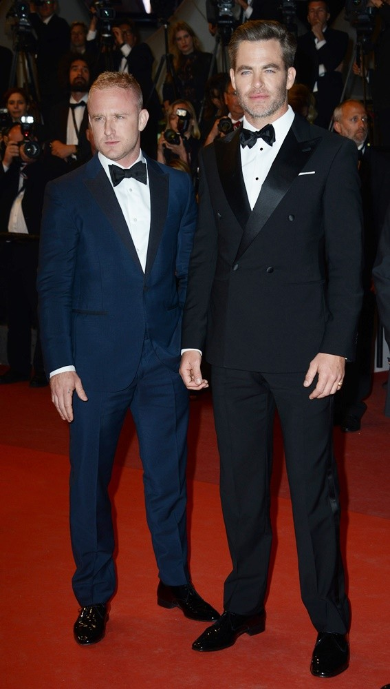 Ben Foster, Chris Pine<br>69th Cannes Film Festival - Hands of Stone Premiere - Arrivals