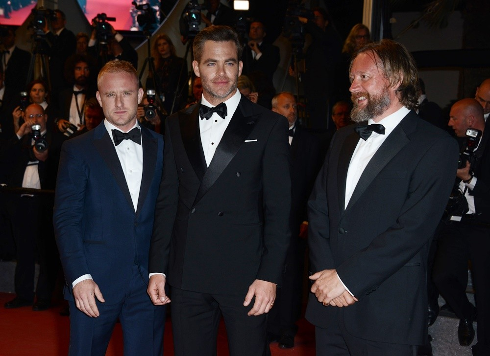Ben Foster, Chris Pine, David Mackenzie<br>69th Cannes Film Festival - Hands of Stone Premiere - Arrivals