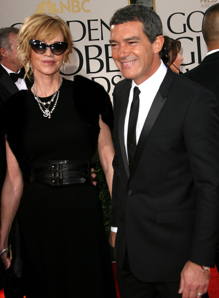 Melanie Griffith, Antonio Banderas<br>The 69th Annual Golden Globe Awards - Arrivals