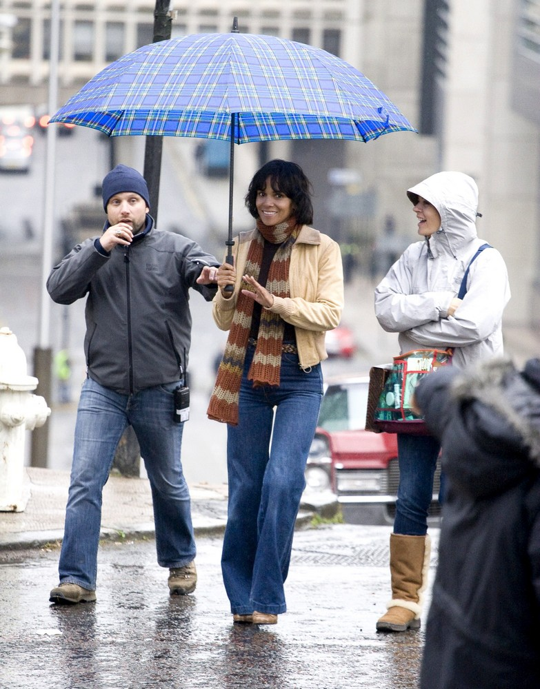 Halle Berry<br>On The Film set of Cloud Atlas Shooting on Location in Glasgow