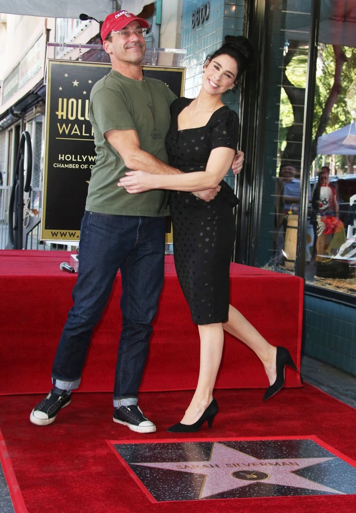 Jon Hamm, Sarah Silverman<br>Sarah Silverman Is Honored with A Star on The Hollywood Walk of Fame