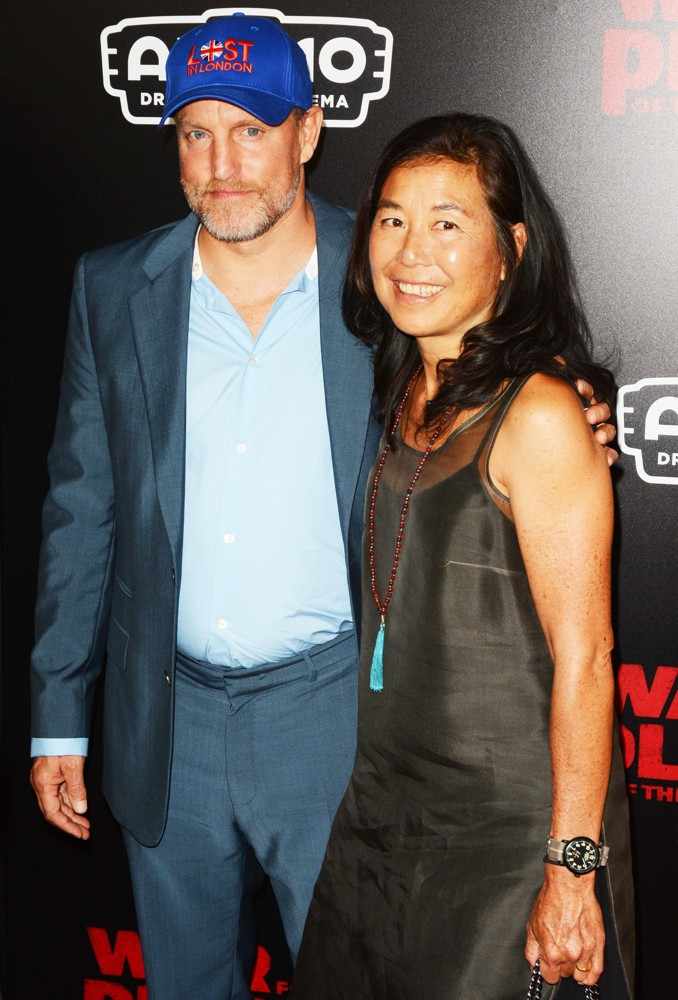 Woody Harrelson, Laura Louie<br>Premiere of War for the Planet of the Apes